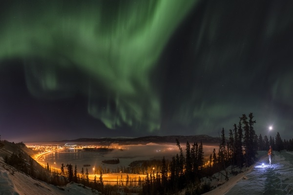 Evening and Aurora (Northern Light) images around Whitehorse, Yukon. Canada.