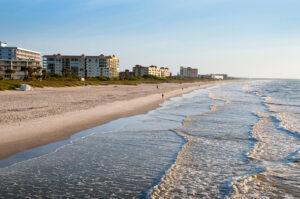 Beautiful Beach in Cocoa Beach Florida USA
